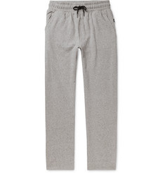 Onia Steven Mélange Fleece-Back Cotton-Blend Jersey Sweatpants