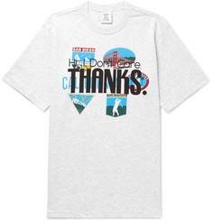 Vetements - Printed Mélange Cotton-Jersey T-Shirt