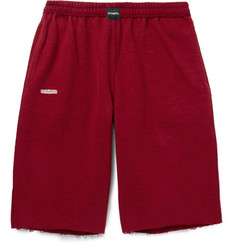 Vetements Wide-Leg Cotton-Blend Fleece Shorts