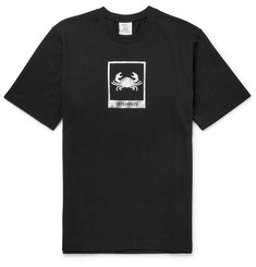 Vetements Cancer Printed Cotton-Jersey T-Shirt