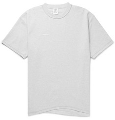 Vetements Oversized Appliquéd Mélange Cotton-Jersey T-Shirt