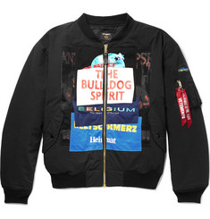 Vetements + Alpha Industries Oversized Appliquéd Cotton-Blend Bomber Jacket