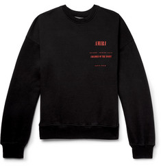 AMIRI Printed Fleece-Back Cotton-Jersey Sweatshirt