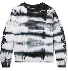 AMIRI Embellished Tie-Dyed Fleece-Back Cotton-Jersey Sweatshirt