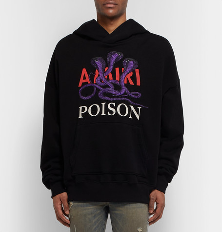 Appliquéd Printed Fleece Back Cotton Jersey Hoodie by Amiri