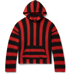 AMIRI Baja Oversized Striped Wool-Blend Hoodie