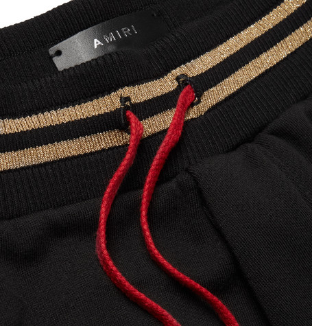 Printed Fleece Back Modal Blend Jersey Drawstring Shorts by Amiri