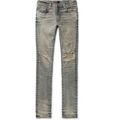 AMIRI - Skinny-Fit Distressed Stretch-Denim Jeans