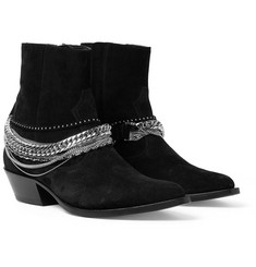 AMIRI Chain-Detailed Suede Boots