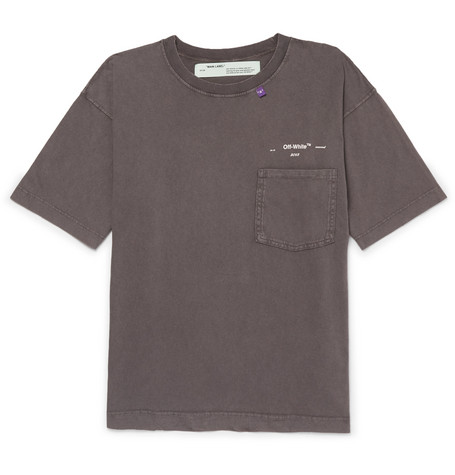 Logo-print Distressed Cotton-jersey T-shirt