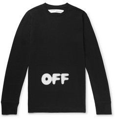 Off-White + KidMoGraph Logo-Print Cotton-Jersey T-Shirt