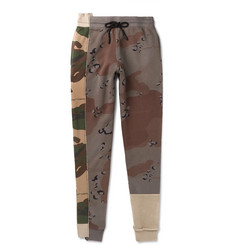 Off-White Tapered Camouflage-Print Loopback Cotton-Jersery Sweatpants