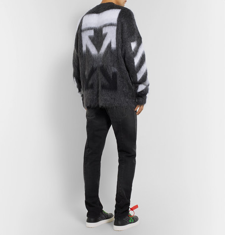 Intarsia Mohair Blend Sweater by Off White