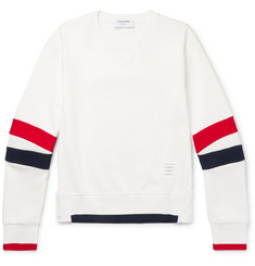 Thom Browne - Slim-Fit Striped Loopback Cotton-Jersey Sweatshirt