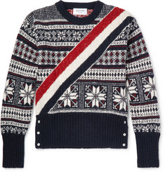 Thom Browne - Striped Fair Isle Wool and Mohair-Blend Sweater
