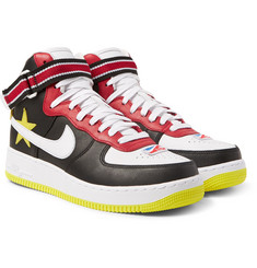 Nike - + Riccardo Tisci Air Force 1 Leather High-Top Sneakers