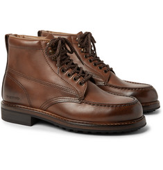 TOM FORD - Cromwell Burnished-Leather Hiking Boots