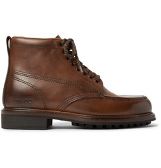 TOM FORD Cromwell Burnished-Leather Hiking Boots