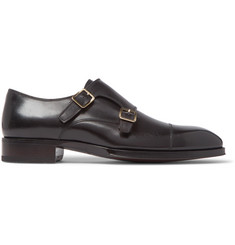 TOM FORD Elkan Leather Monk-Strap Shoes