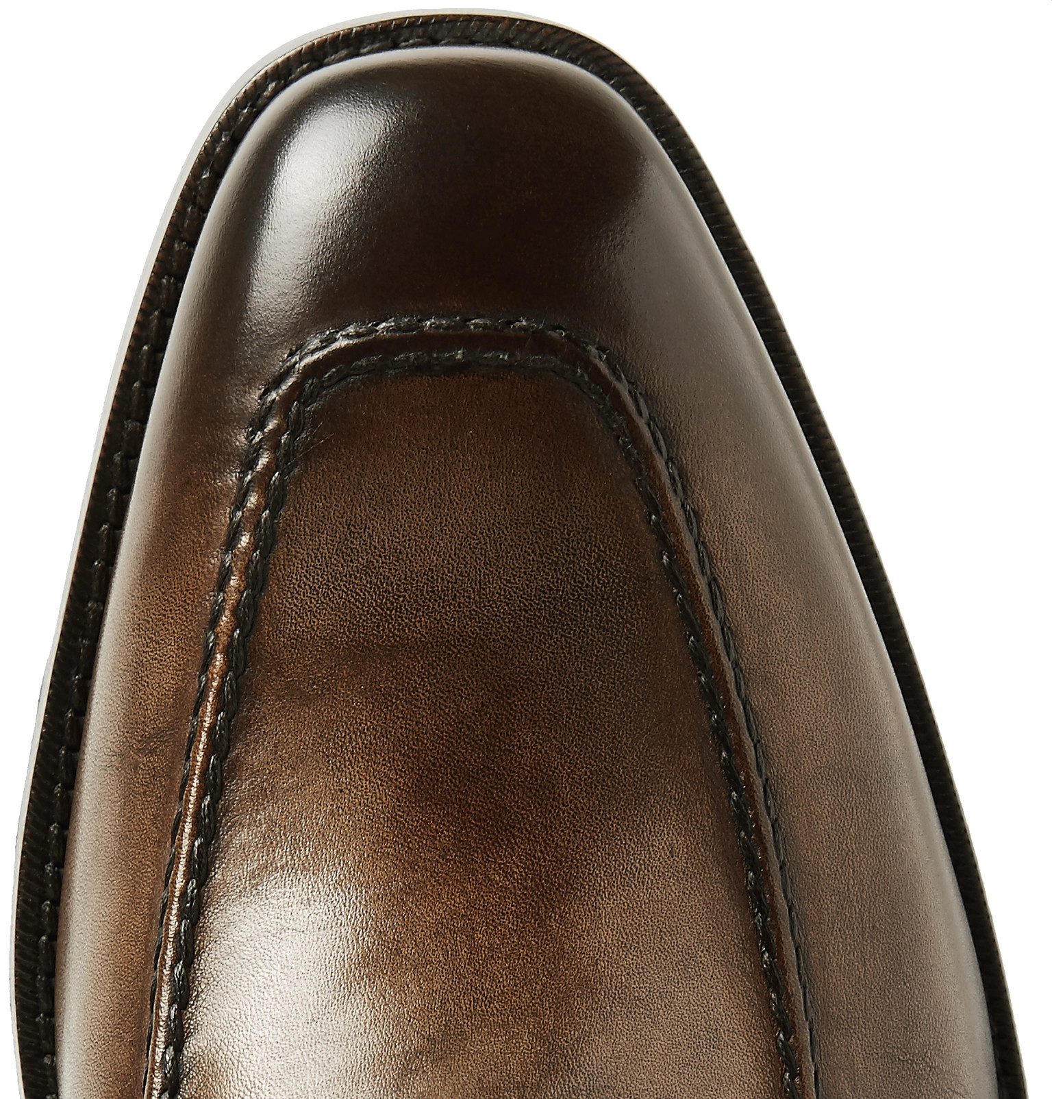 ac79de7d7aa TOM FORD - Wessex Burnished-Leather Penny Loafers