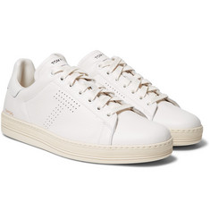 TOM FORD - Warwick Perforated Full-Grain Leather Sneakers