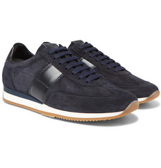 TOM FORD - Orford Leather-Trimmed Suede Sneakers