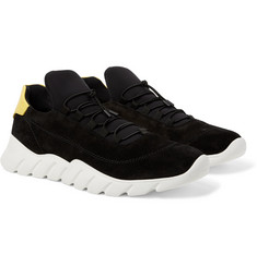 Fendi - Suede and Neoprene Sneakers