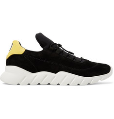 Fendi Suede and Neoprene Sneakers
