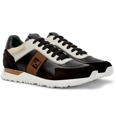 Fendi - Leather and Suede Sneakers