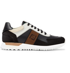 Fendi Leather and Suede Sneakers