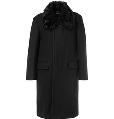 TOM FORD Shearling-Trimmed Felted Wool-Blend Overcoat