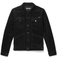TOM FORD - Washed Stretch-Cotton Corduroy Jacket