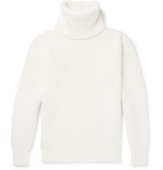TOM FORD - Ribbed Merino Wool Rollneck Sweater