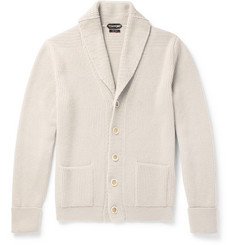 TOM FORD Steve McQueen Shawl-Collar Ribbed Cashmere Cardigan