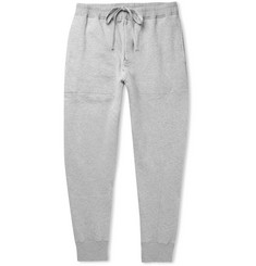 TOM FORD Tapered Mélange Fleece-Back Cotton-Jersey Sweatpants