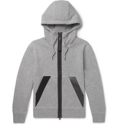 TOM FORD - Logo-Trimmed Double-Faced Mélange Cotton-Blend Hoodie