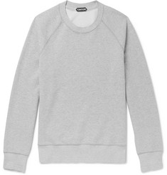 TOM FORD Mélange Loopback Cotton-Jersey Sweatshirt