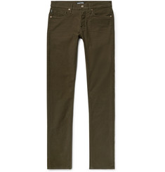 TOM FORD Slim-Fit Stretch-Cotton Moleskin Trousers