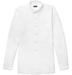 TOM FORD - Slim-Fit Button-Down Collar Cotton Oxford Shirt