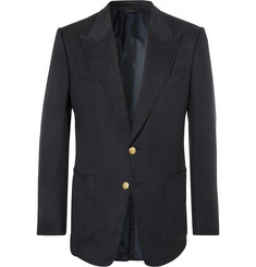 TOM FORD Navy Shelton Slim-Fit Cashmere Blazer