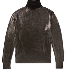 TOM FORD Metallic Silk Rollneck Sweater