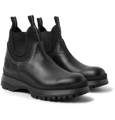Prada - Leather and Neoprene Chelsea Boots