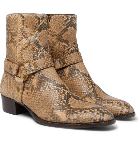 Wyatt Python Harness Boots by Saint Laurent
