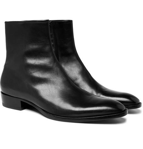 Wyatt Leather Chelsea Boots by Saint Laurent