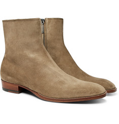 Saint Laurent - Wyatt Brushed-Suede Boots