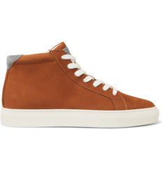Brunello Cucinelli Nubuck High-Top Sneakers