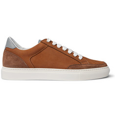 Brunello Cucinelli Apollo Nubuck, Suede and Leather Sneakers