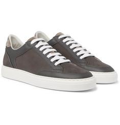 Santoni Full-Grain Leather Sneakers manchester great sale sale online 5e2Ys0D