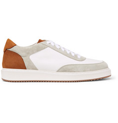 Brunello Cucinelli Icaro II Full-Grain Leather, Nubuck and Suede Sneakers