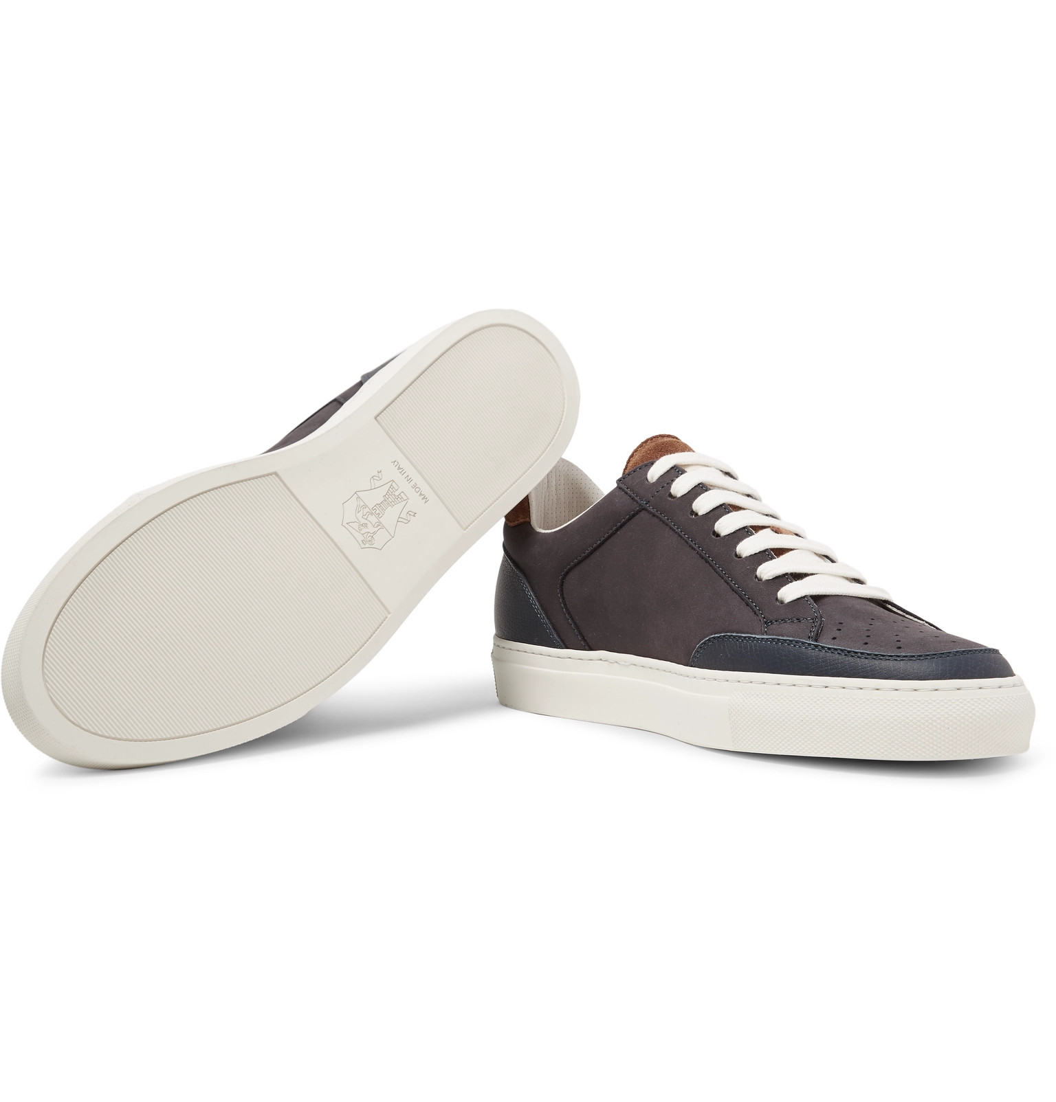 Sneakers Brunello Nubuck Cucinelli Leather Trimmed fTKKypIA